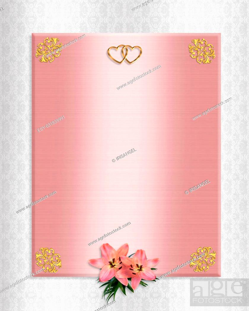 Image and illustration composition template for wedding invitation ...