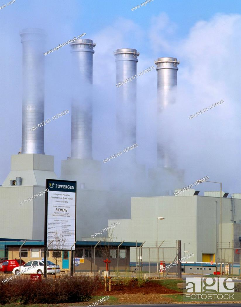 Stock Photo: Killingholme Combined cycle gas fired station, Humberside.