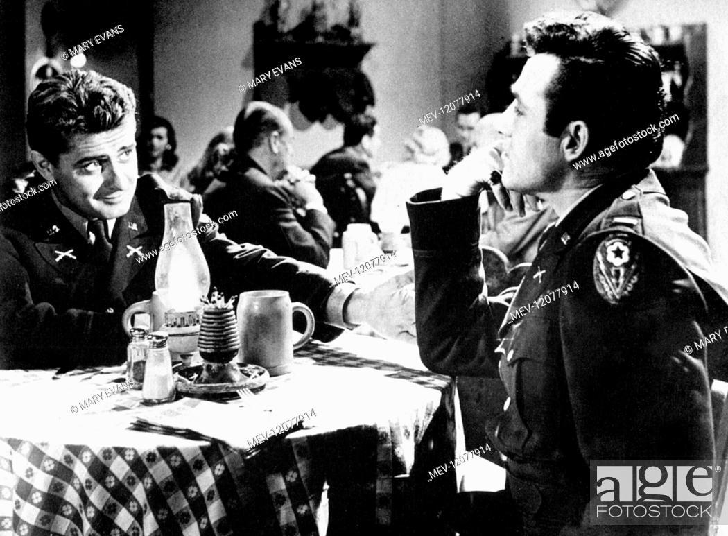Stock Photo: Rex Reason Characters: Lt. Steve Rogerson Film: Under Fire (1957) Director: James B.Clark 23 September 1957.