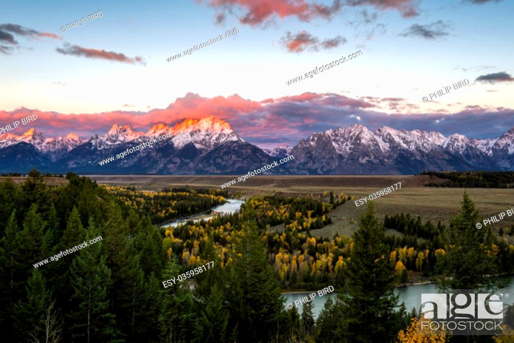Stock Photo: Snake River Overlook.