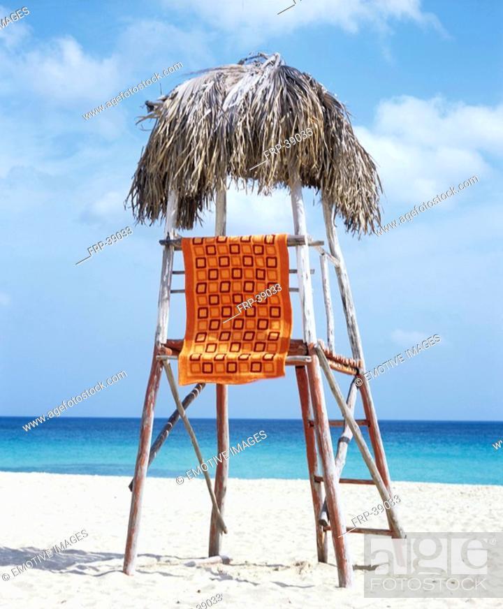 Stock Photo: High seat on the beach.