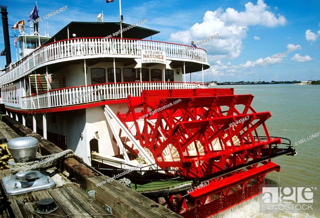 Imagen: Natchez steamboat paddle steamer, Mississippi River, New Orleans, Louisiana, USA.