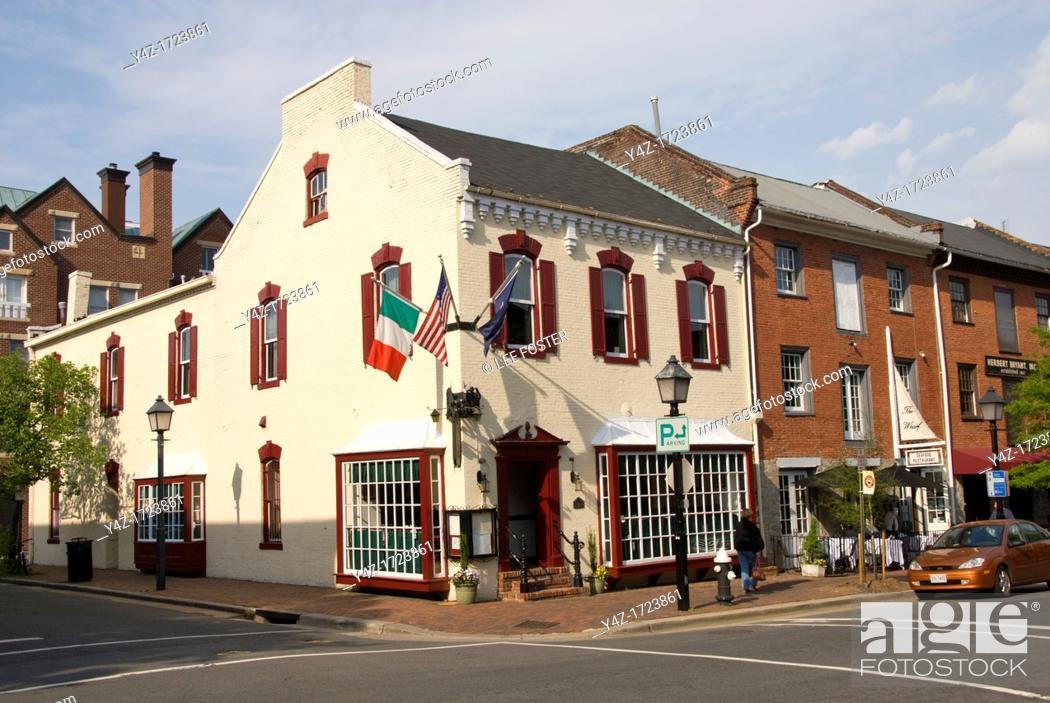 Stock Photo: Washington DC, USA, Alexandria's Old Town, historic architecture.