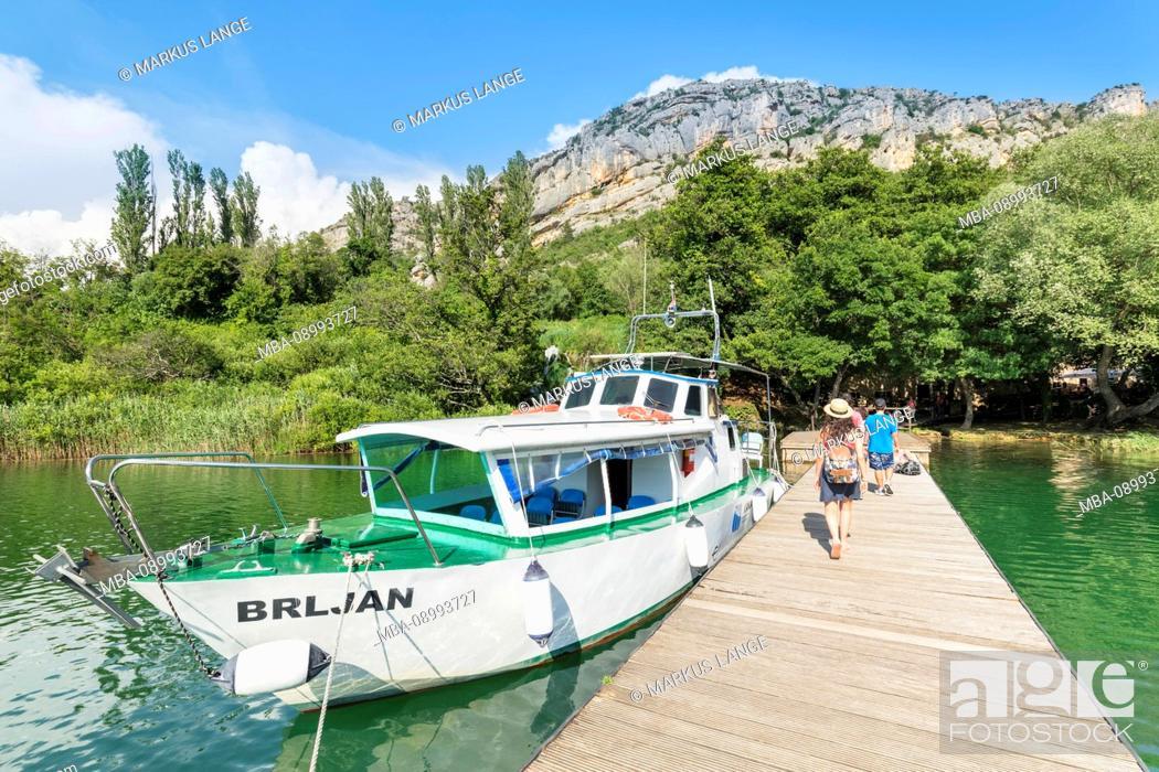 Stock Photo: Jetty near the Roski Slap waterfall, Krka National Park, UNESCO World Heritage Site, Dalmatia, Croatia.