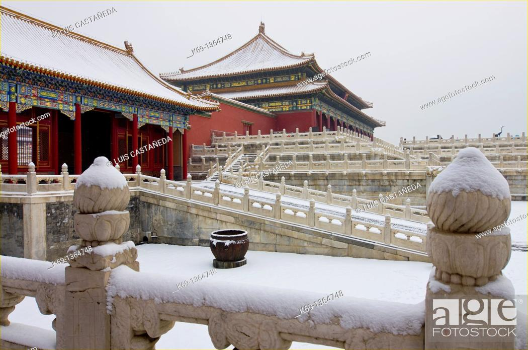 Stock Photo: The Forbidden City in Winter  Beijing  China.