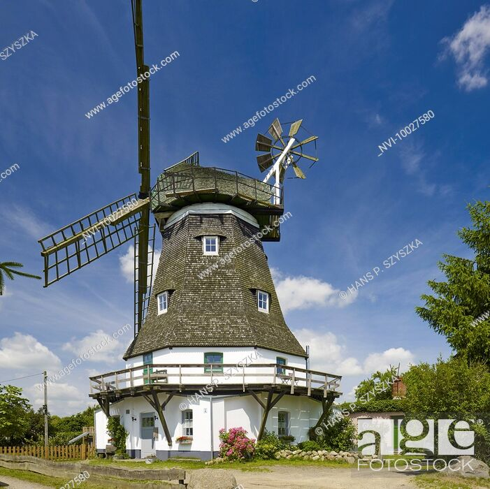 Stock Photo: Mill in Grevesmühlen, Mecklenburg Western Pomerania, Germany.