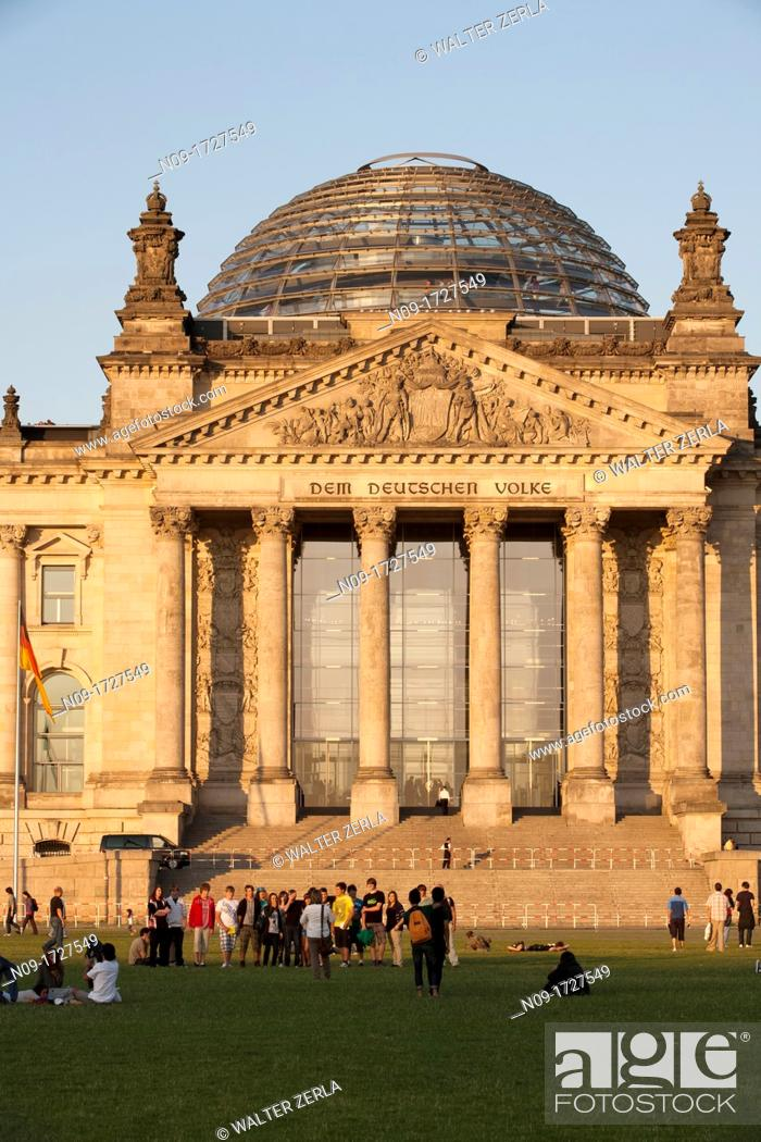Stock Photo: Germany, Berlin, Reichstag, Parliament.