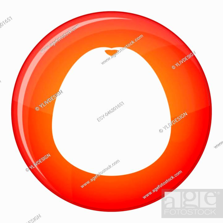 Stock Photo: Pomelo icon in red circle isolated on white background illustration.