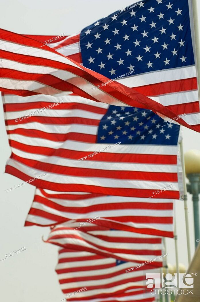 Stock Photo: American flag blowing.