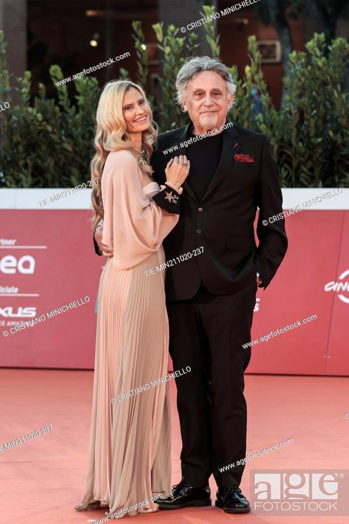 Stock Photo: Nicole Moscariello, Andrea Roncato on Red carpet of film 'Maledetta primavera' at the 15th Rome Film Festival, Rome, ITALY-21-10-2020.