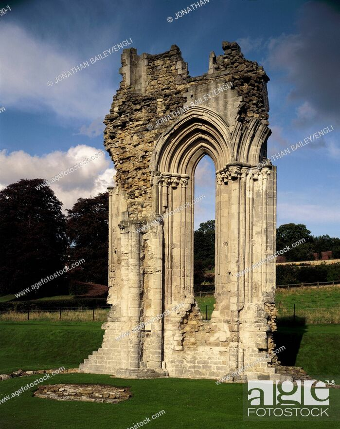 Stock Photo: Kirkham Priory. The surviving block of the East end.