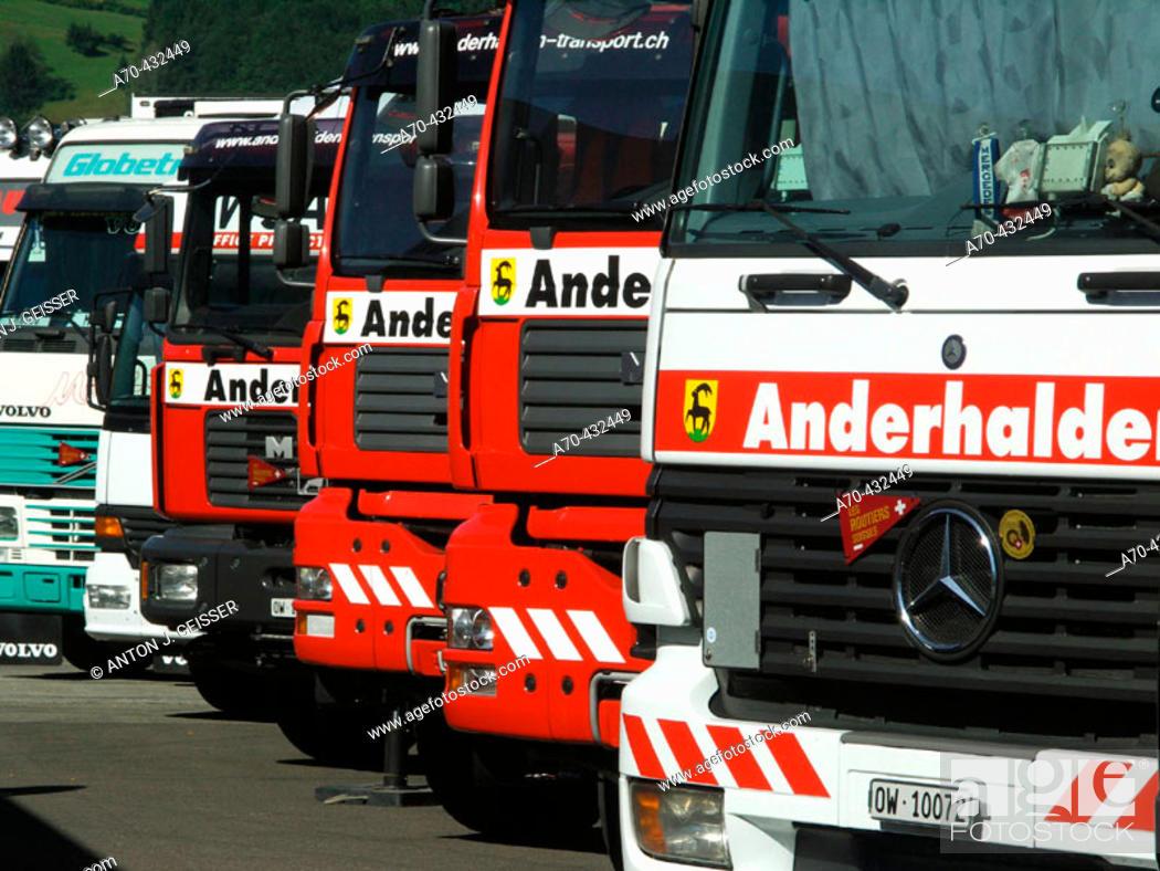 Stock Photo: Trucker & Country Festival, Interlaken, Switzerland.
