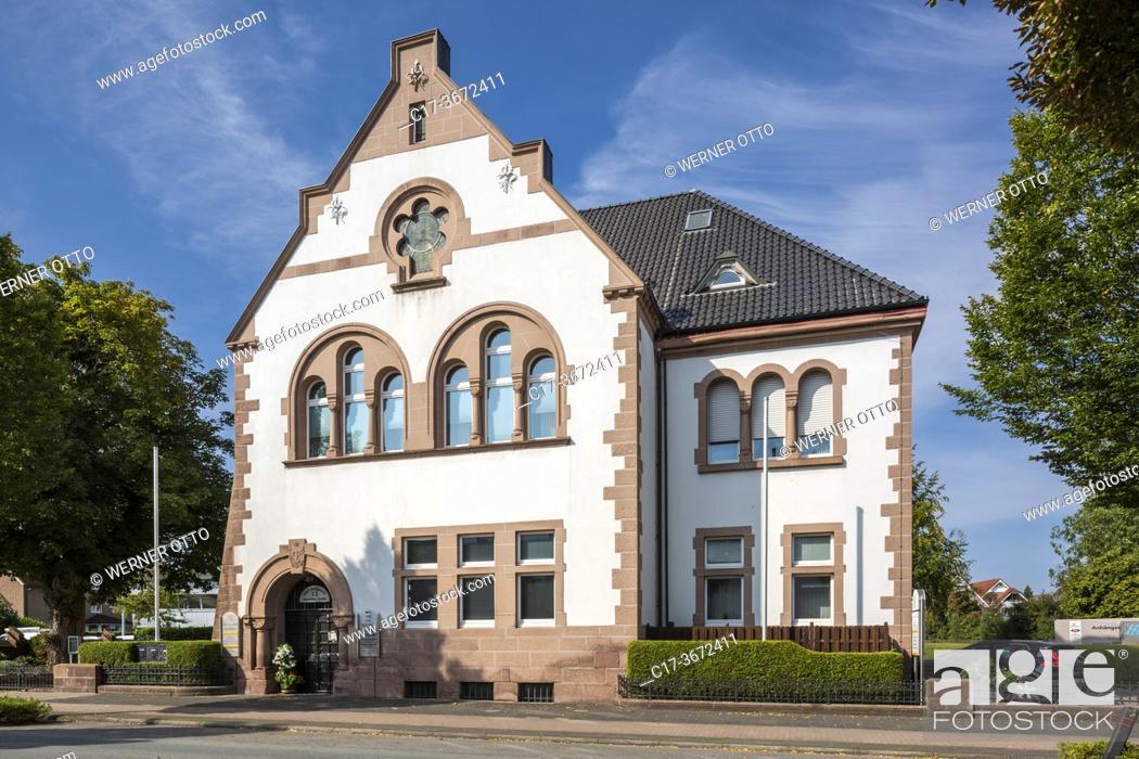 Imagen: Borken, D-Borken, Hohe Mark Westmuensterland Nature Park, Muensterland, Westphalia, North Rhine-Westphalia, NRW, former district court.