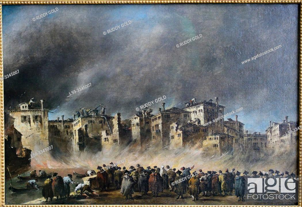 Imagen: 'The Fire in the San Marcuola Quarter', 1790, by Francesco Guardi (1712-1793).