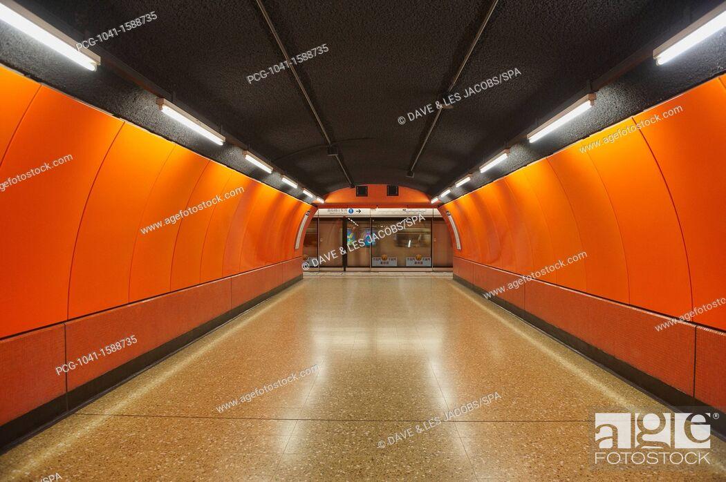 Stock Photo: Underground Metro System.