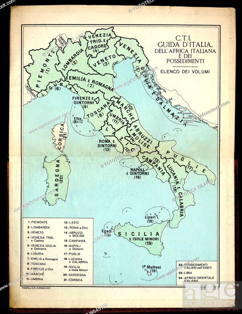 Cartina Dell Italia Divisa Per Regioni.Cartografia Cartina Dell Italia Divisa In Regioni Dalla