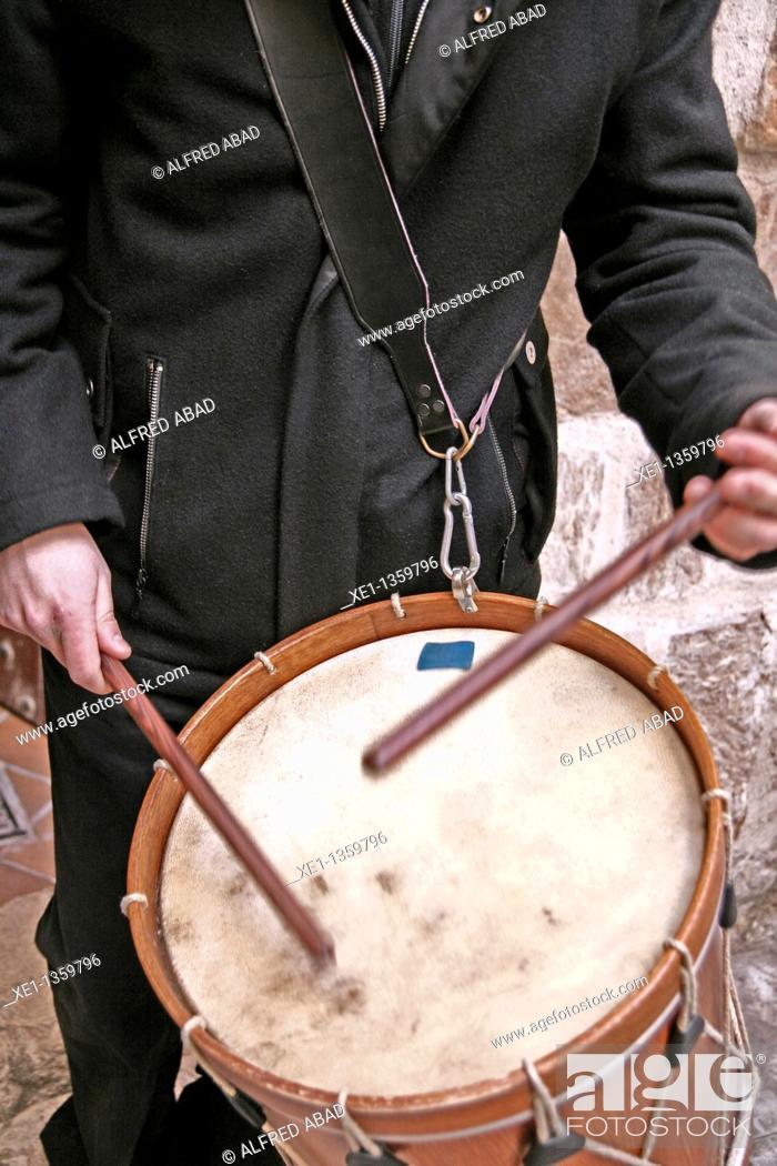 Stock Photo: drummer, Festes Decennals'11, Valls, Catalonia, Spain.