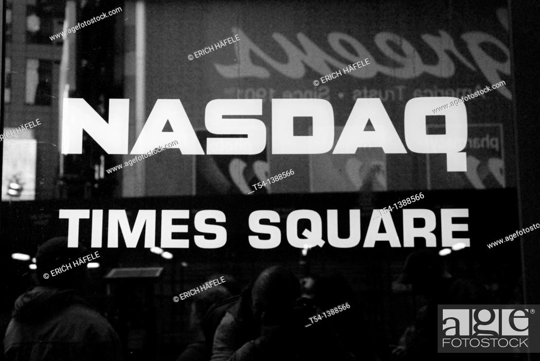 Stock Photo: Entrace on the NESDAQ Time Square New York.