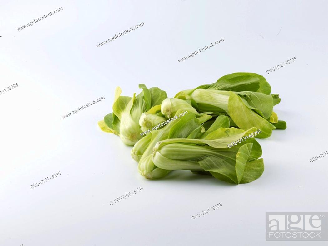 Stock Photo: food material, bok choi, cuisine, food, bok choy, pak choi.