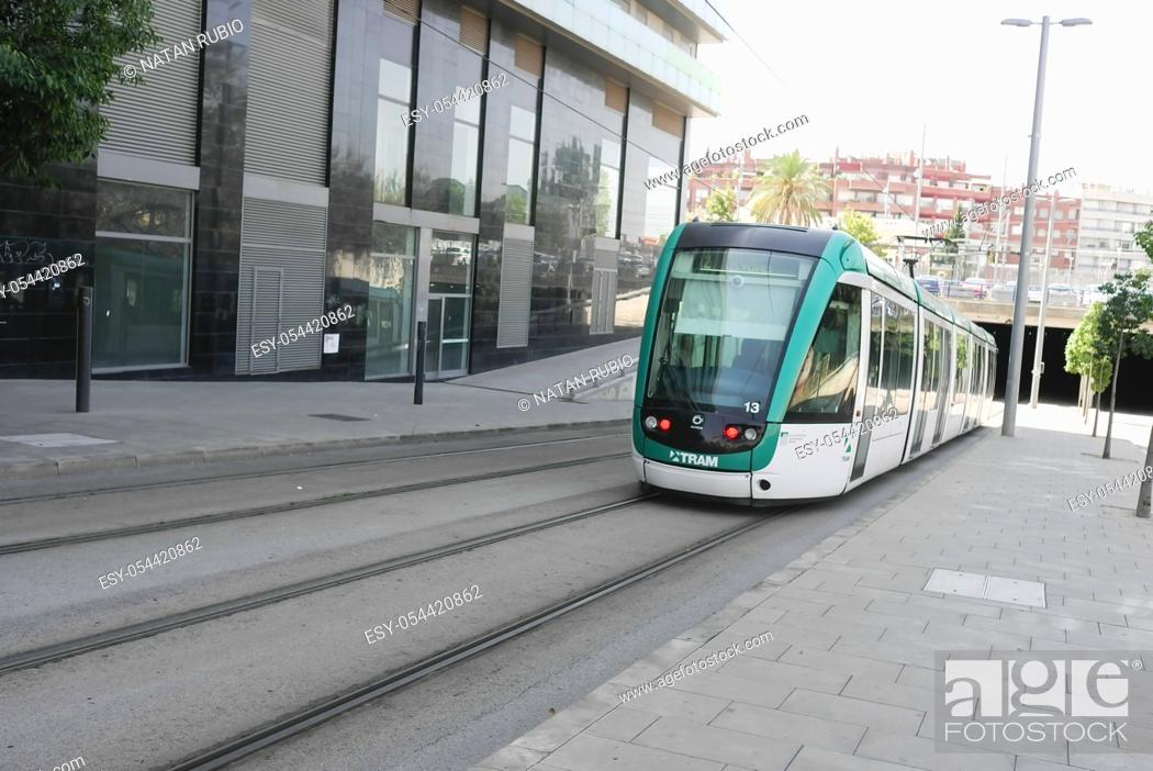 Stock Photo: Tram, Cornella de Llobregat , Barcelona, Spain.