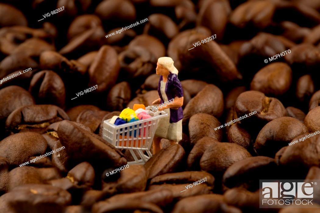 Stock Photo: coffee beans . - 03/09/2008.