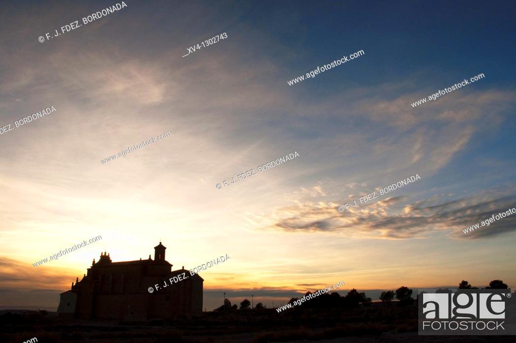 Stock Photo: Virgen de la Sabina chapel  Farlete  Saragossa  Monegros  Aragon  Spain.