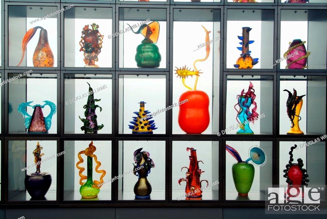 Stock Photo: Bridge of Glass, glass art by Dale Chihuly, Museum of Glass, Tacoma, Washington, USA.