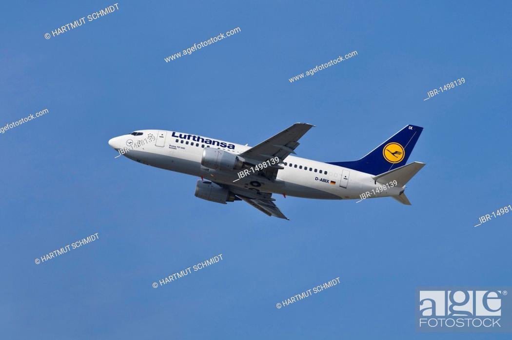 Commercial aircraft Lufthansa Boeing 737-500 named after the