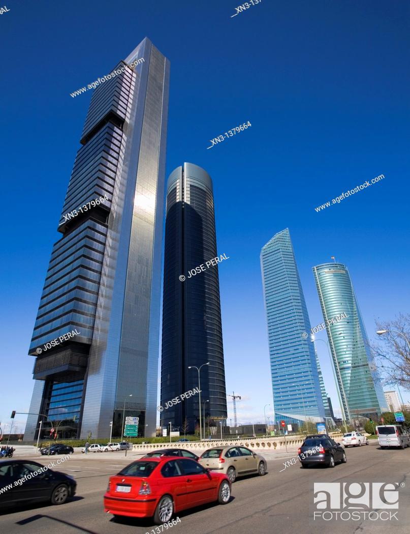 Stock Photo: CTBA, Cuatro Torres Business Area, Madrid, Spain.