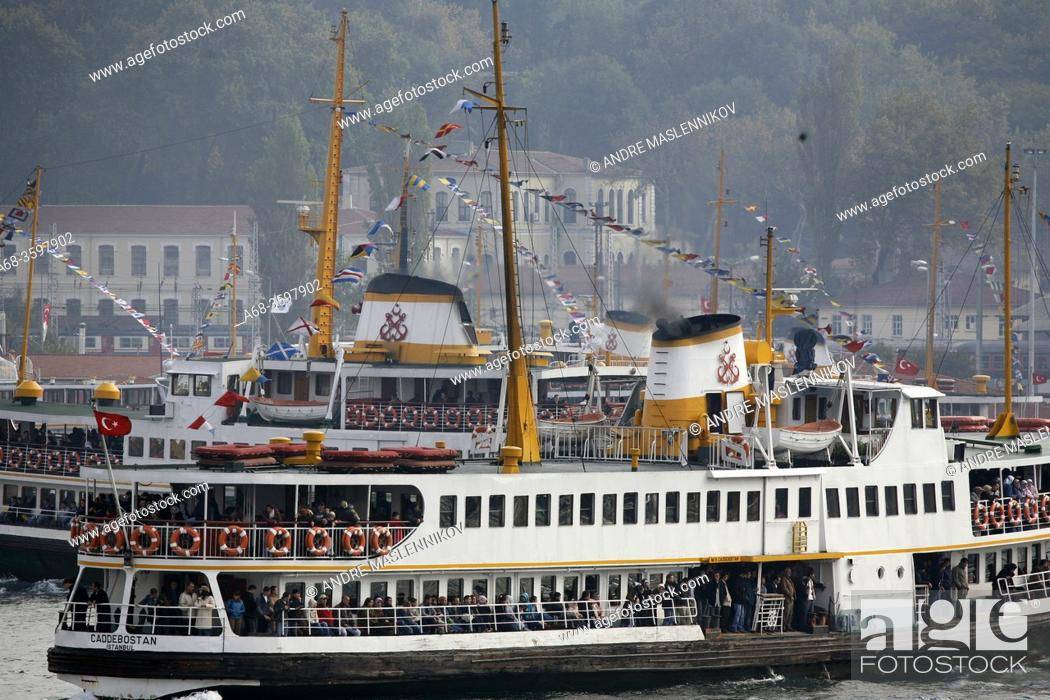 Stock Photo: A ferry terminal at Uskudar in Istanbul, Turkey.