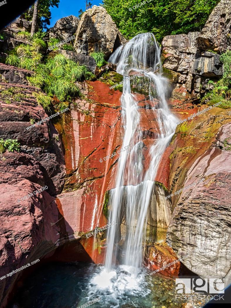 Stock Photo: La Larri waterfallat afternoon.