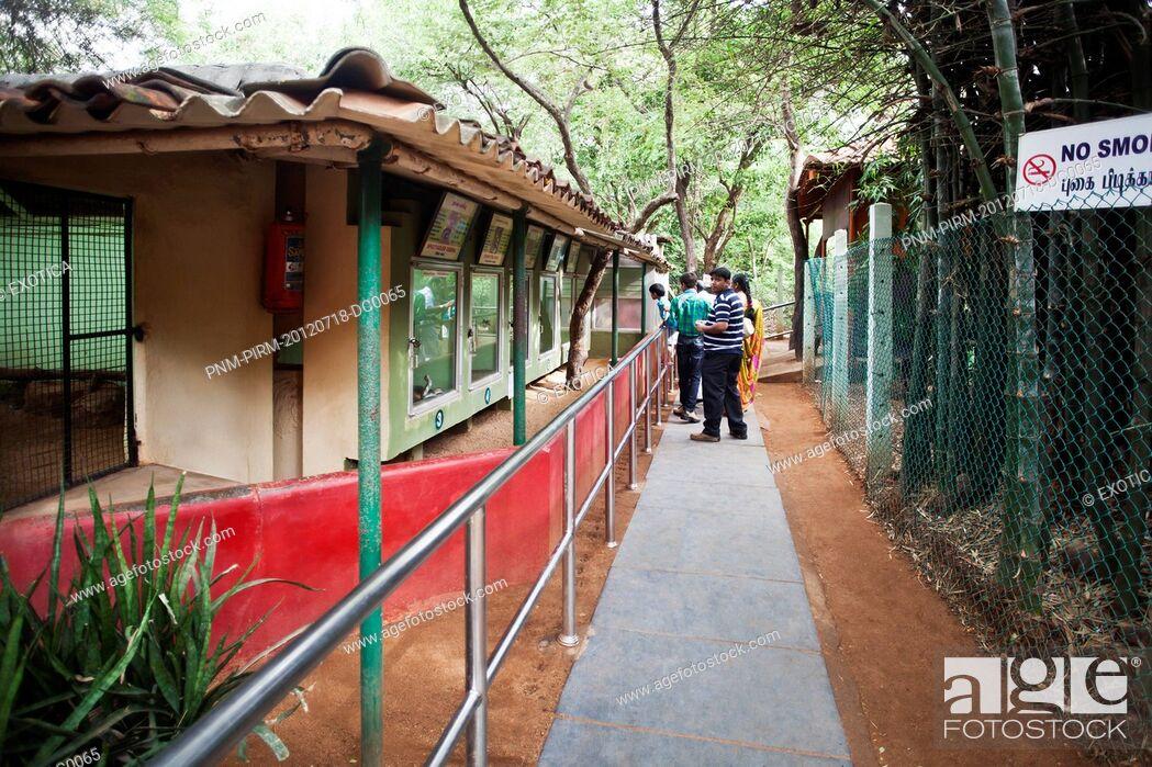 Stock Photo: People enjoying at zoo, Chennai, Tamil Nadu, India.