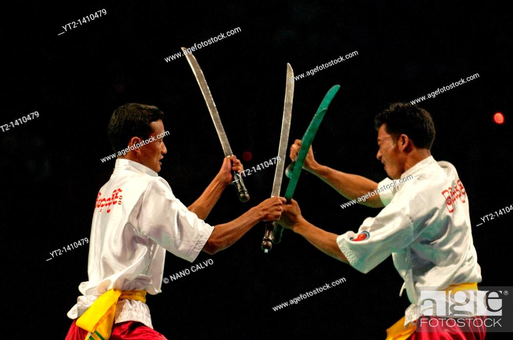 thaing bando exhibition by myanmar thaing federation at festival des