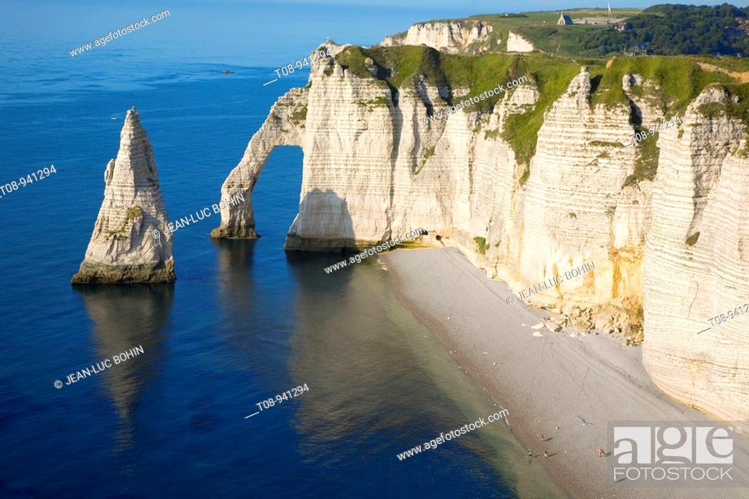 France Normandie Etretat Falaise D Aval Stock Photo Picture