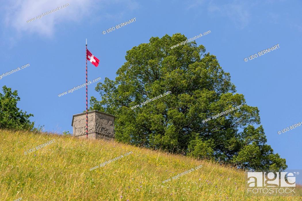 Stock Photo: Hilly landscapes near Lueg Affoltern, Emmental, Berner Mittelland, Canton Bern, Switzerland.