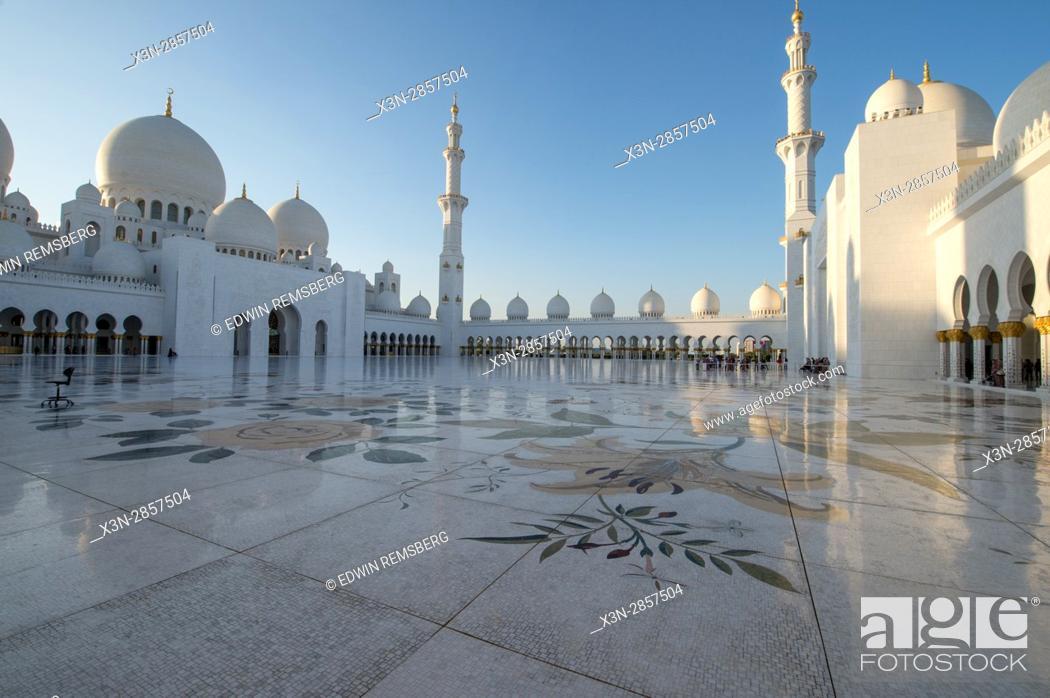 Stock Photo: United Arab Emirates - Sheikh Zayed Mosque in Abu Dhabi.