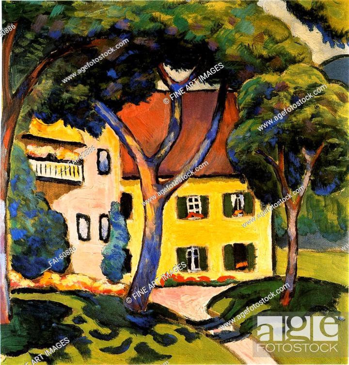 Stock Photo: Macke, August (1887-1914). 'House in Tegernsee'. Kunstmuseum Mülheim an der Ruhr. Oil on canvas, 1910.