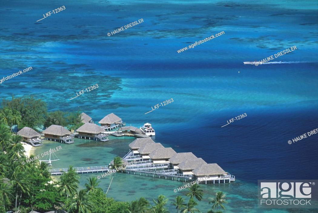 View At The Bungalows Of The Bora Bora Hotel On The