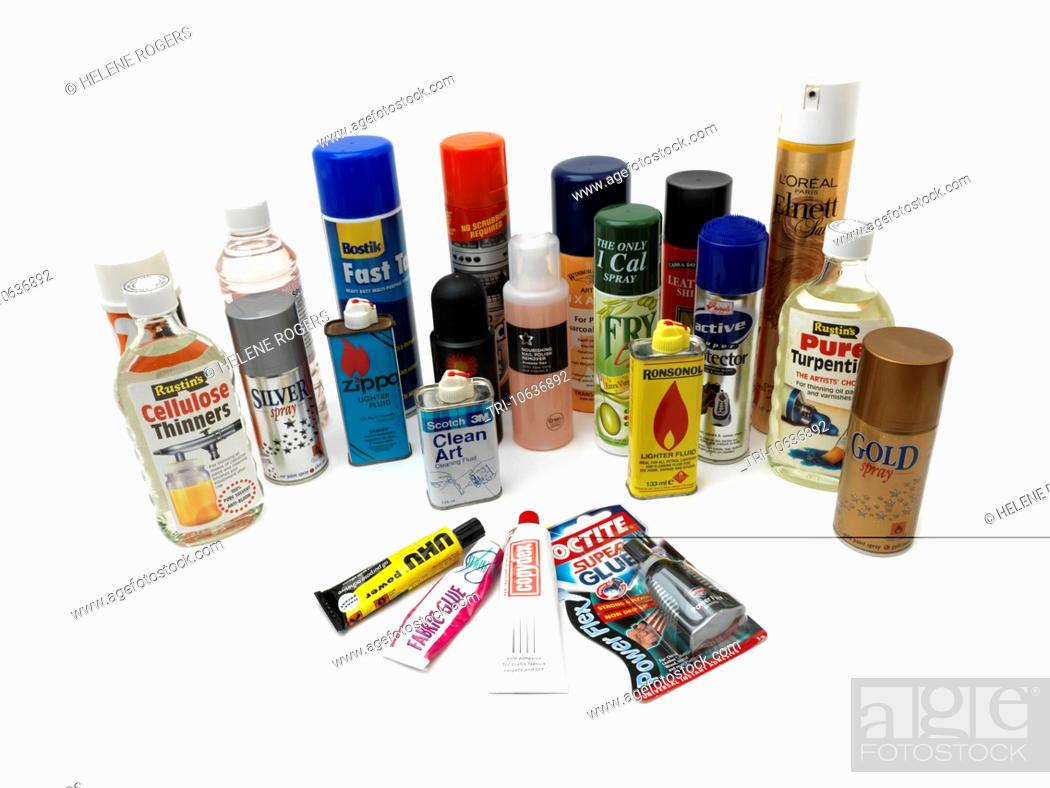 Various Household Products Sometimes Used As Inhalants