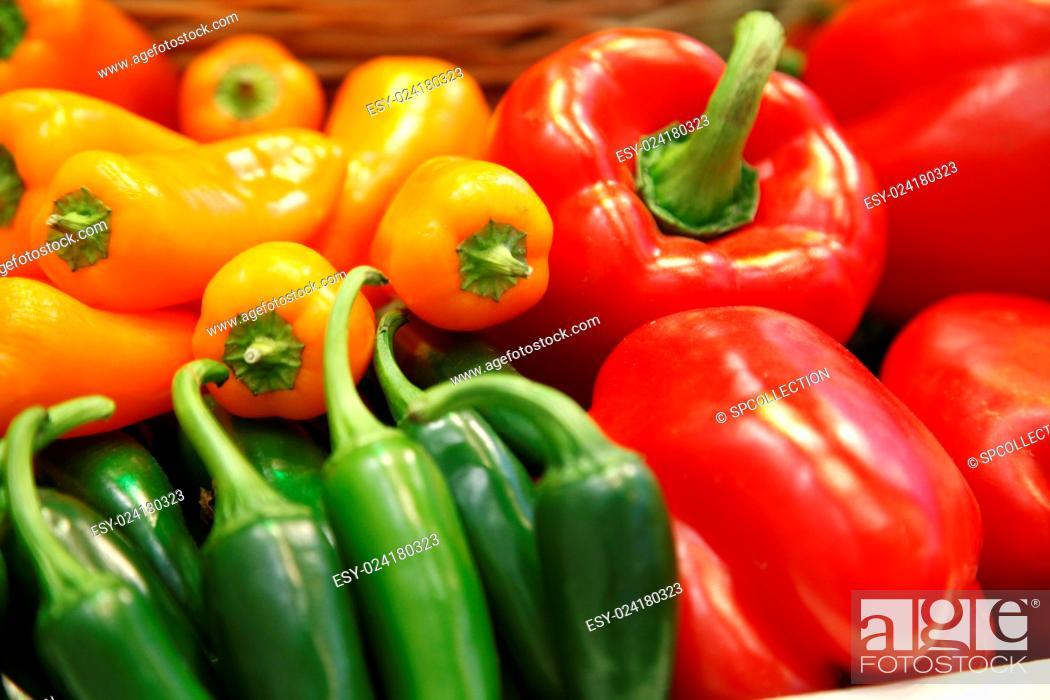 Stock Photo: Different paprika.
