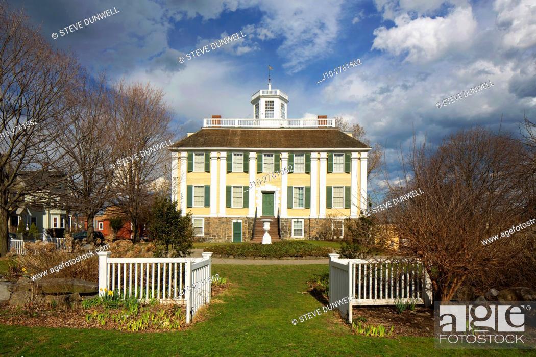 Stock Photo: Shirley Eustis House (1741, attributed to architect Peter Harrison, Georgian style), Roxbury, Massachusetts, USA.