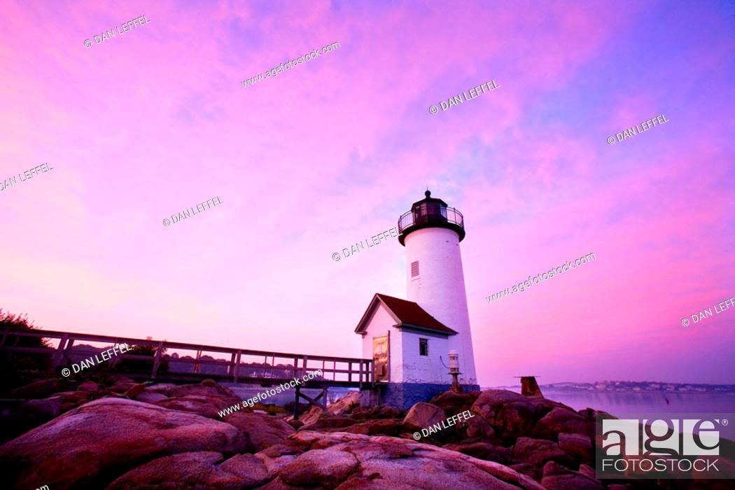 Stock Photo: Annisquam lighthouse. Gloucester. Massachusetts. USA.