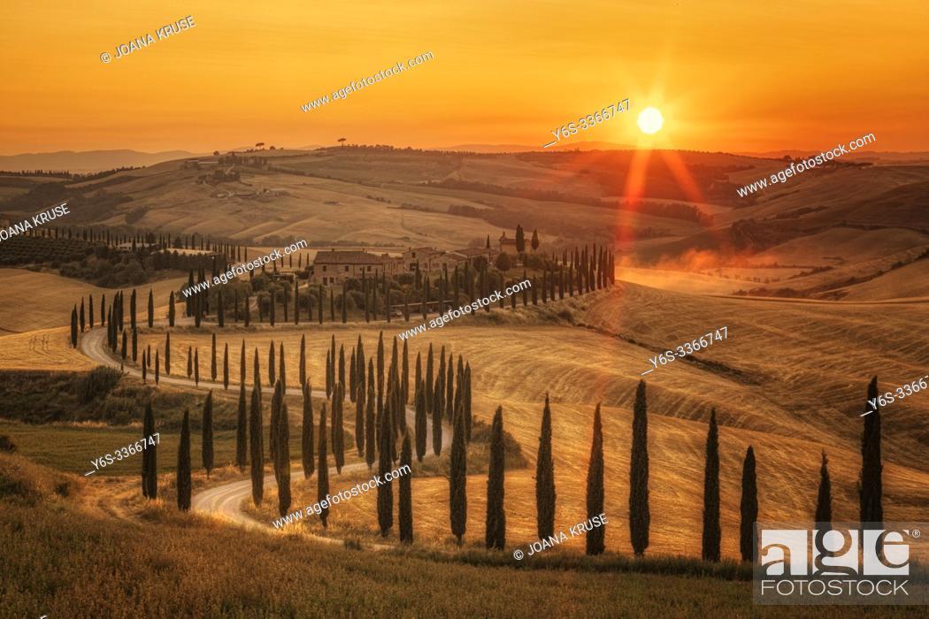 Stock Photo: Asciano, Tuscany, Italy, Europe.