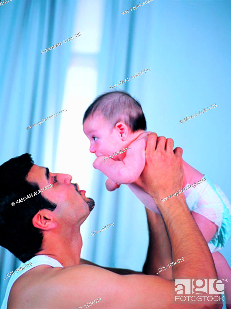Stock Photo: Father with Baby Boy.