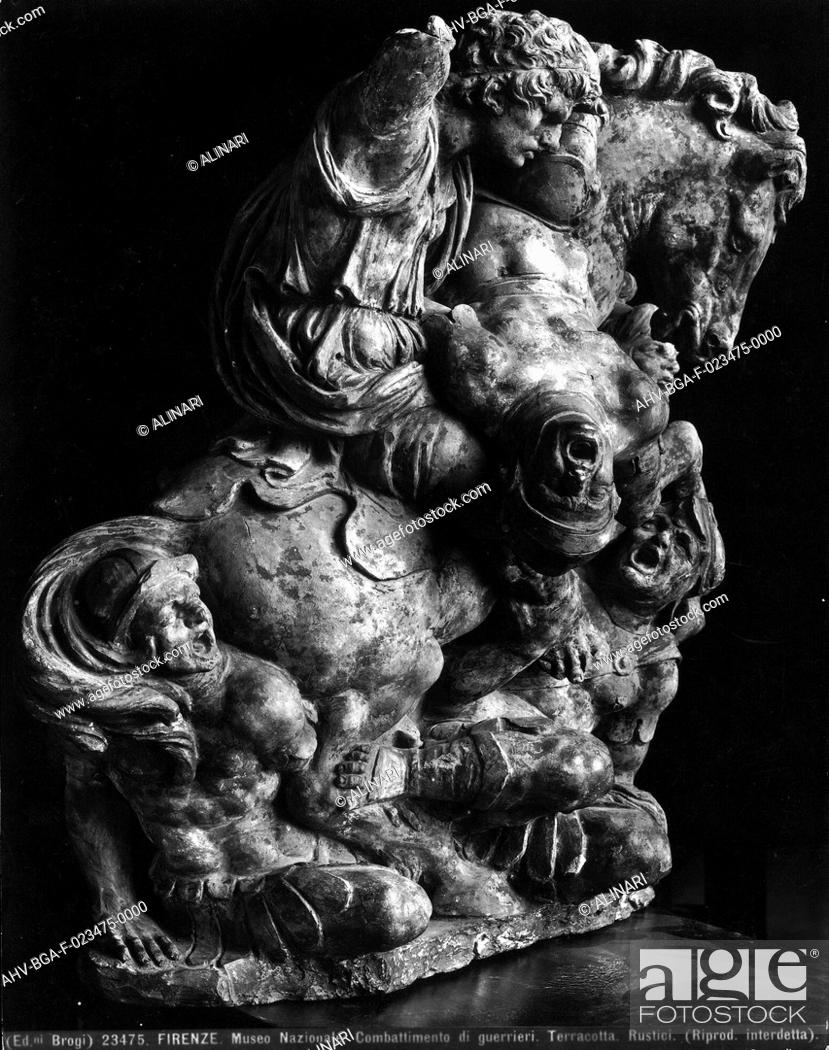 Imagen: Fighting warriors, terracotta by Giovan Francesco Rustici, Bargello National Museum, Florence (1510-1528 ca.), shot 1920-1930 ca. by Brogi.