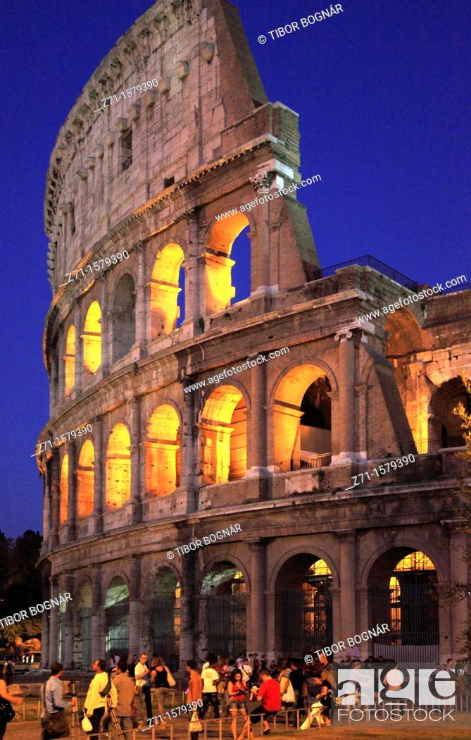Stock Photo: Italy, Lazio, Rome, Colosseum,.