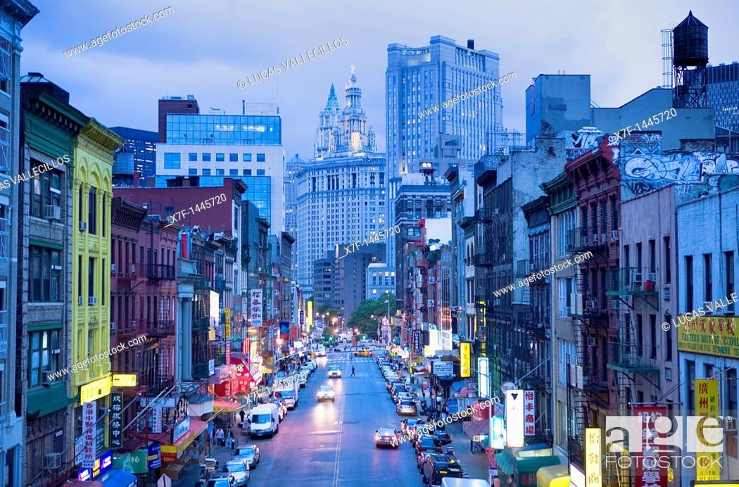 Stock Photo: China town  East Broadway,New York City, USA.