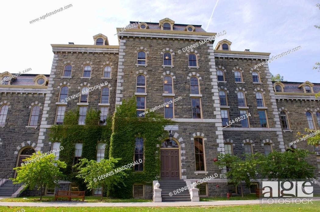 Stock Photo: McGraw Hall Cornell University Campus Ithaca New York Finger Lakes Region.