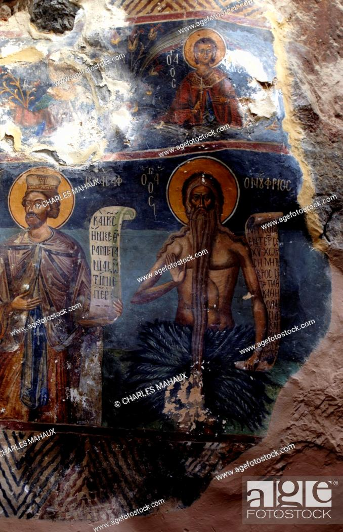 Stock Photo: Europe, Greece, Peloponnese, Arcadia, Ioannis Prodromos Monastery , Lousios' s Gorge,.