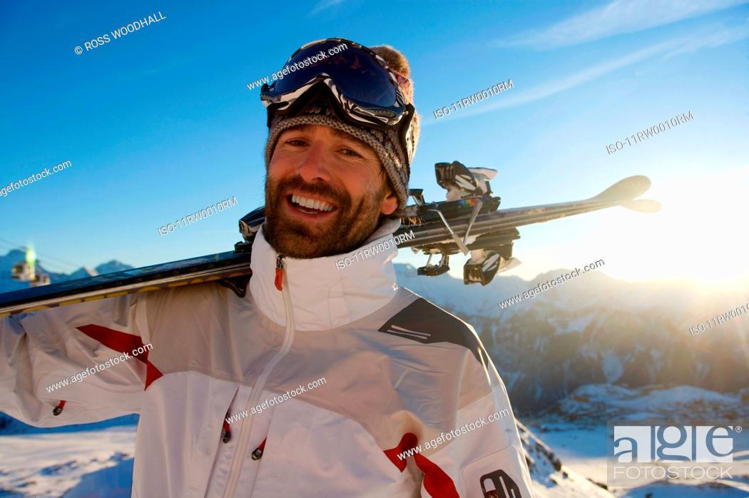 Photo de stock: Portrait of a skier.